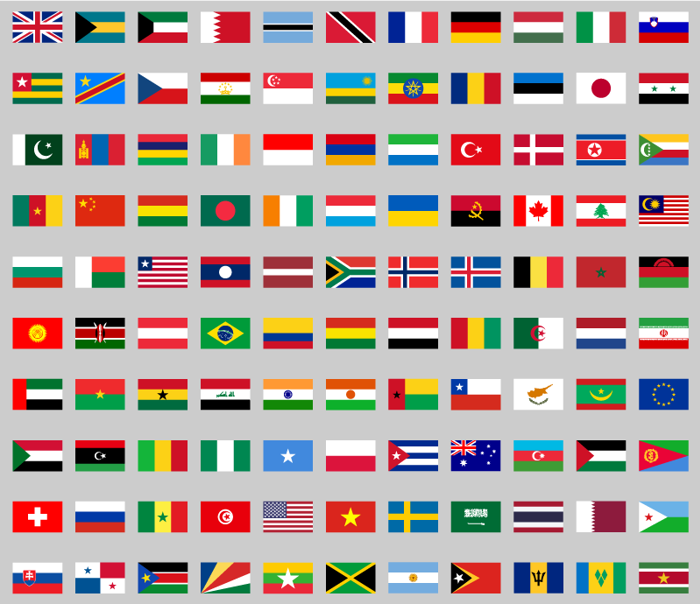 flags color world Font