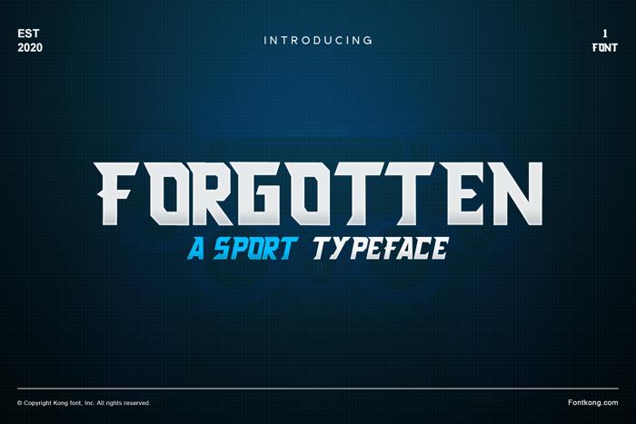 Forgotten Font poster