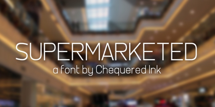 Supermarketed Font poster
