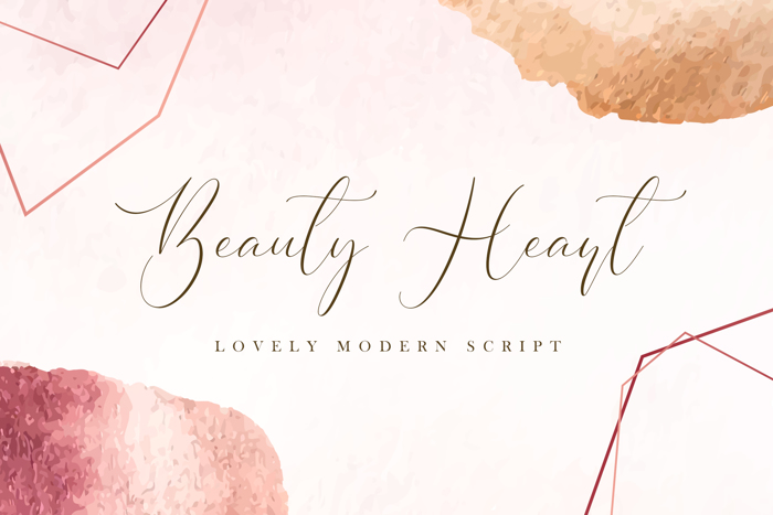 Beauty Heart Font poster