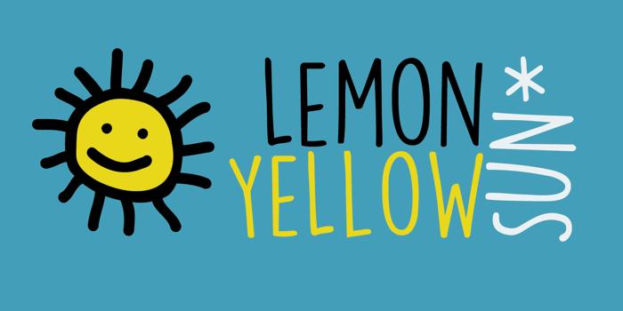 DK Lemon Yellow Sun Font poster