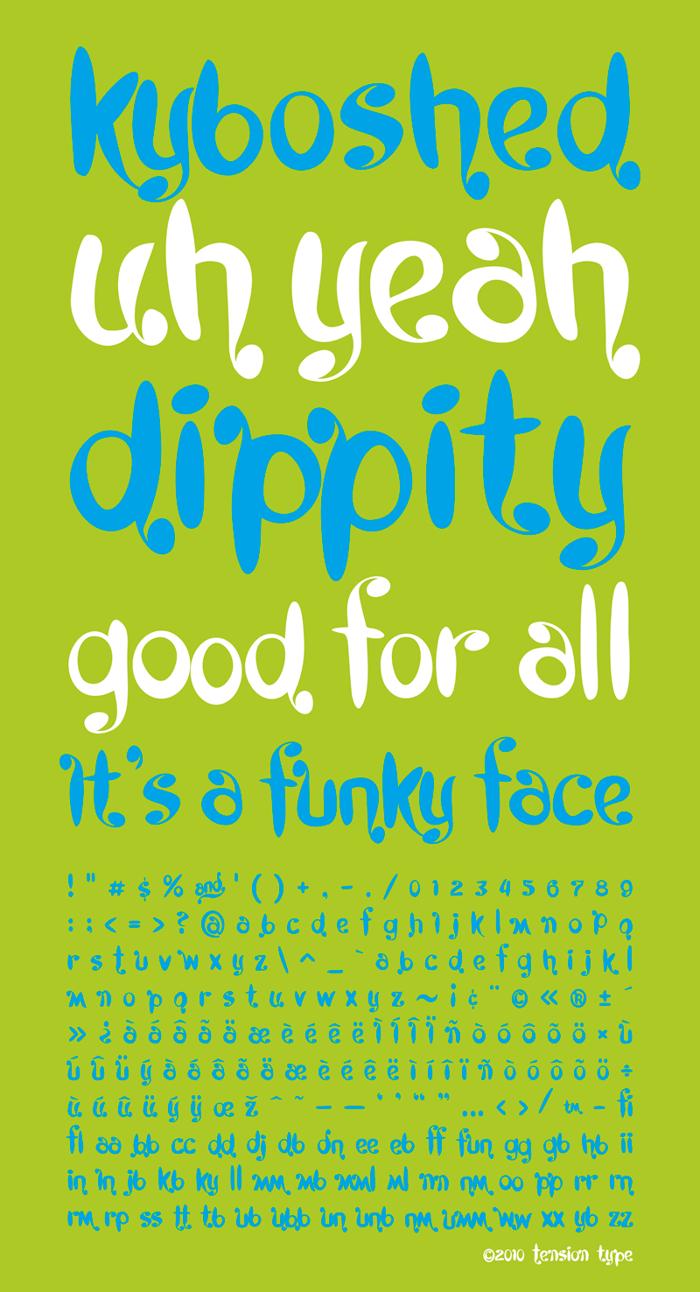 Kyboshed Font poster