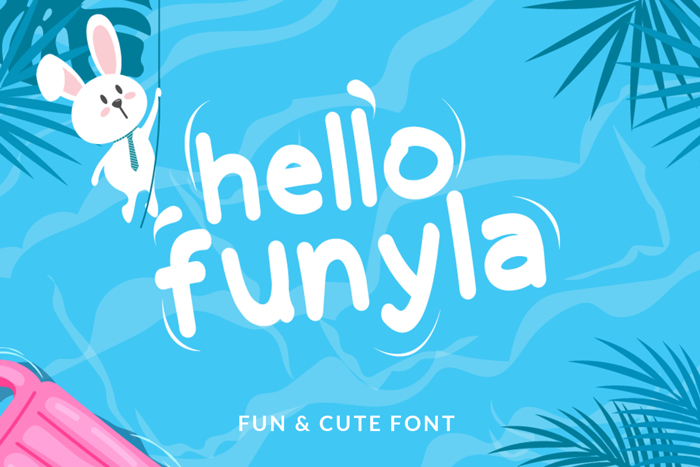 Hello Funyla Font poster