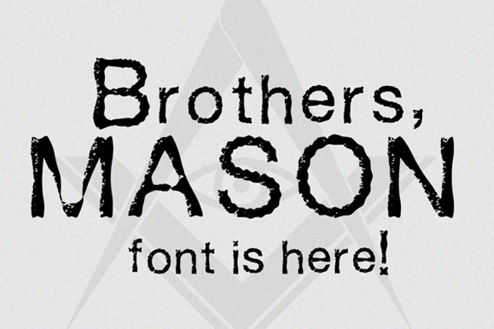 Mason Font poster