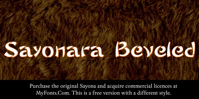 Sayonara Beveled Font poster