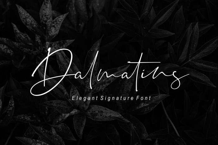 Dalmatins Font poster