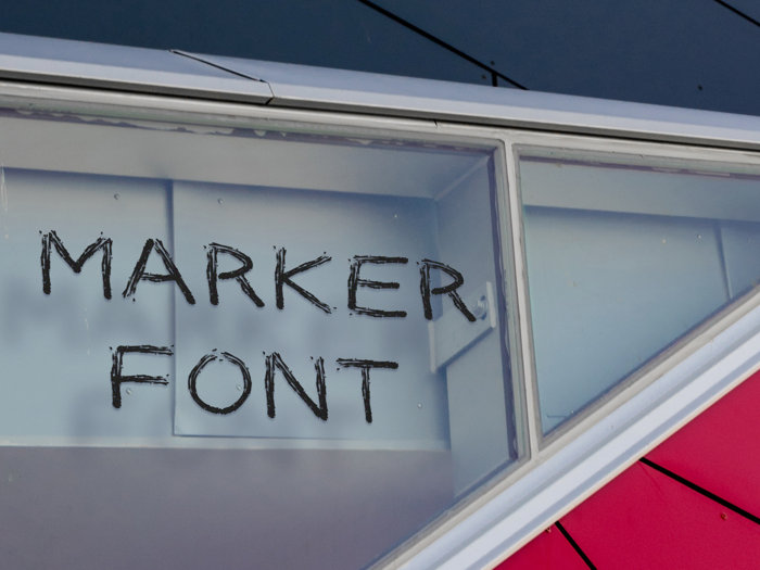 Marker Font poster