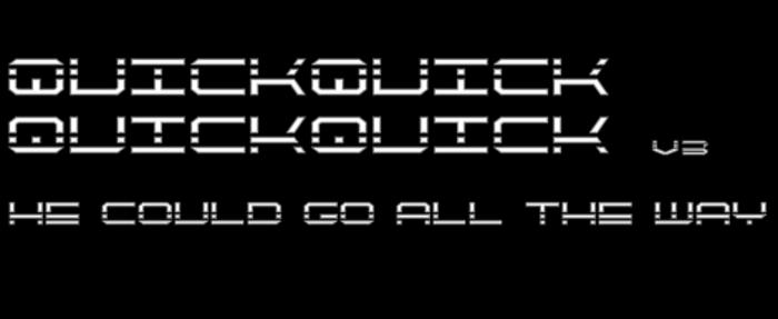 QuickQuick Font poster