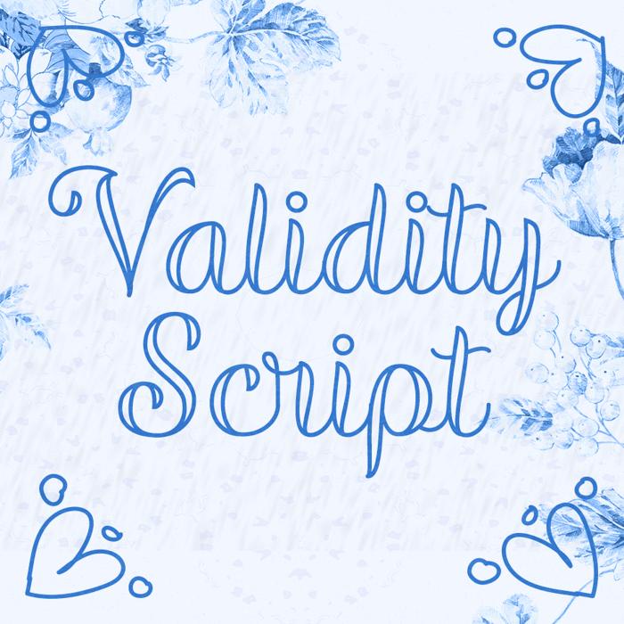 Validity Script Font poster