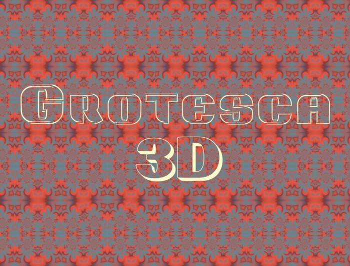 Grotesca3-D Font poster