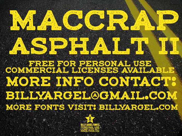 maccrap asphalt II Font poster