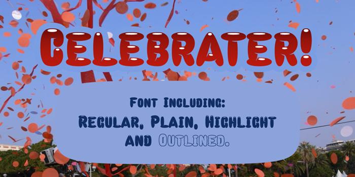 Celebrater Font poster