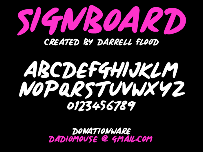 Signboard Font poster