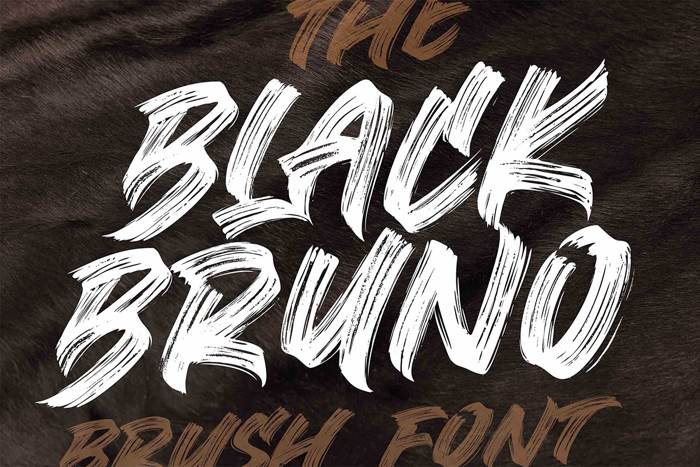 Black Bruno Font poster