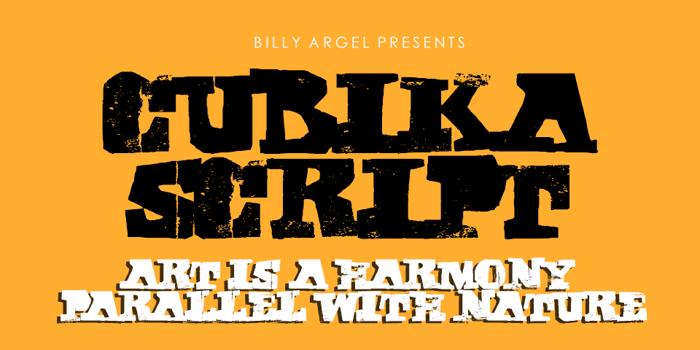 CUBIKA SCRIPT Font poster