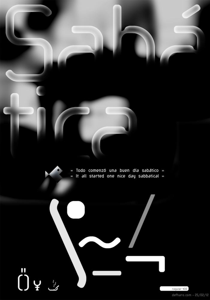 Sabatica Regular Font poster