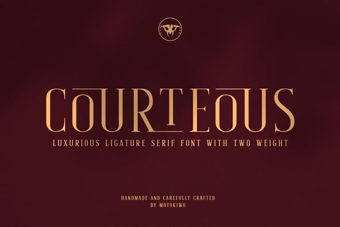 Courteous Font poster