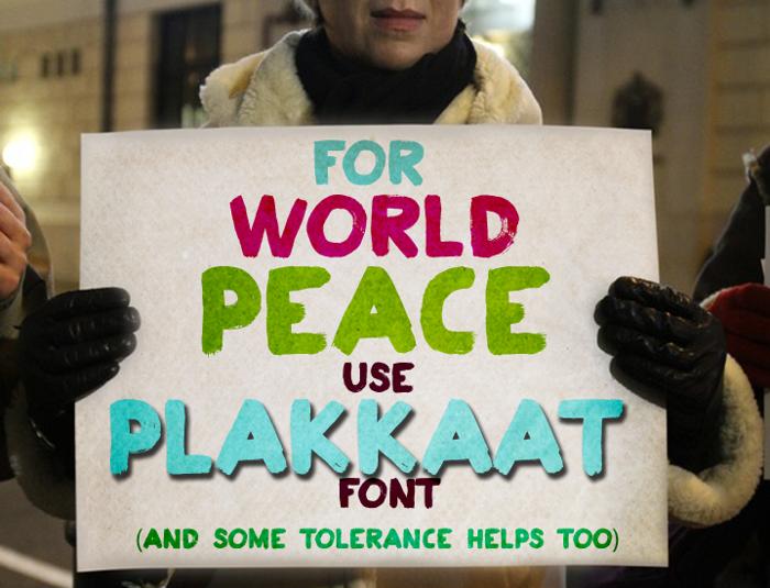 Plakkaat Font poster