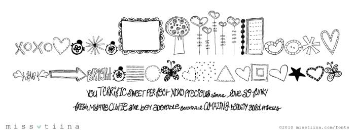 MTF Doodlewhats Font poster