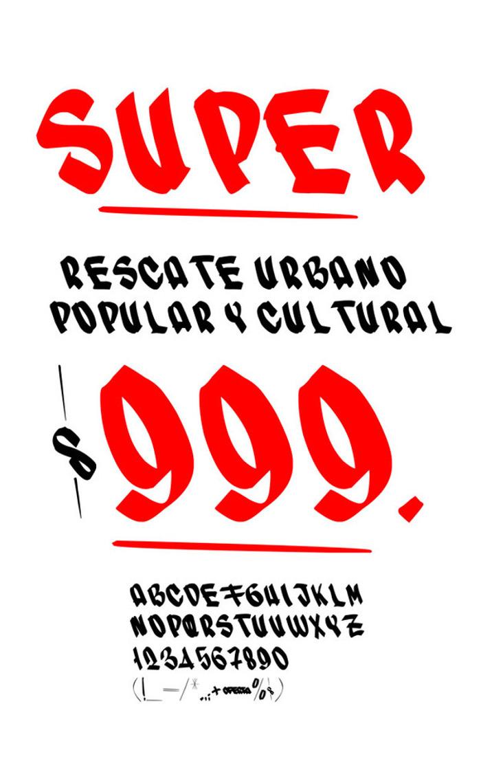 SUPER Font poster