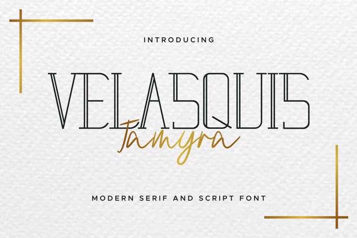 Velasquis Tamyra Font poster