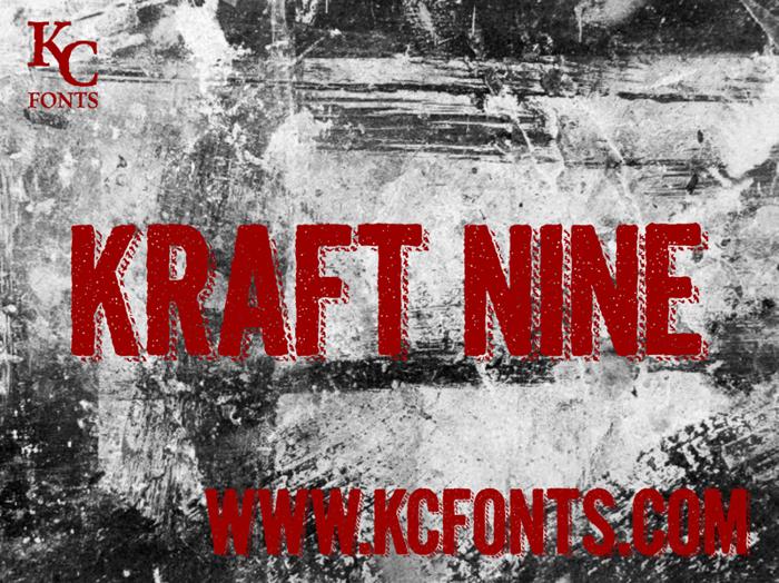 Kraft Nine Font poster