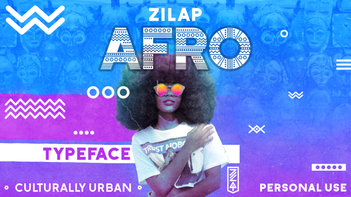 Zilap Afro Font poster