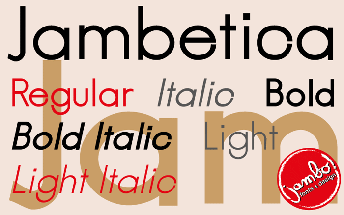 Jambetica Font