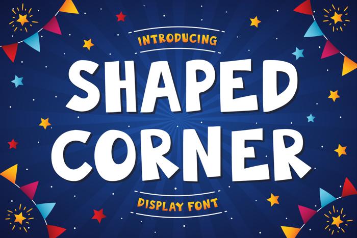 Shaped Corner Font poster