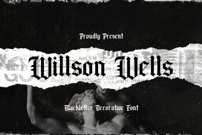 Wilson wells Font poster