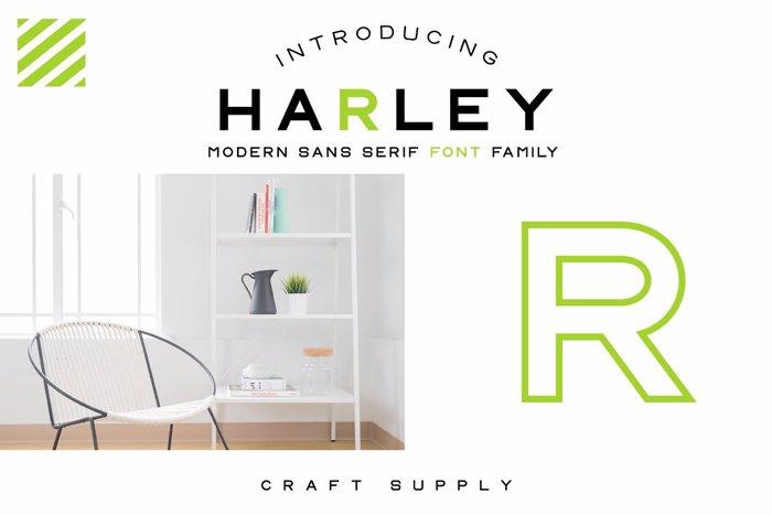 CS Harley Font poster