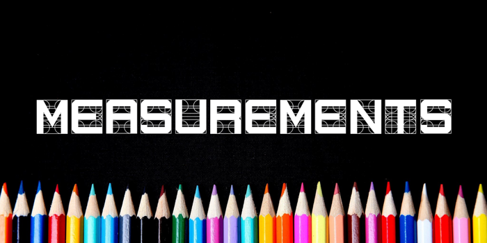 Measurements Font poster