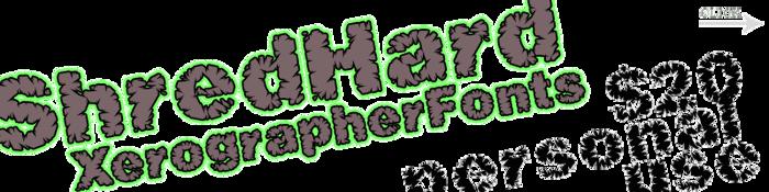 ShredHard Font poster
