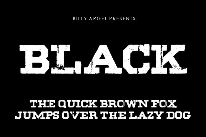 BLACK Font poster