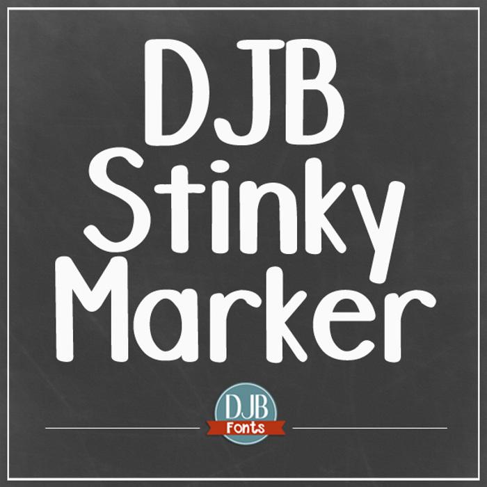 DJB Stinky Marker Font poster