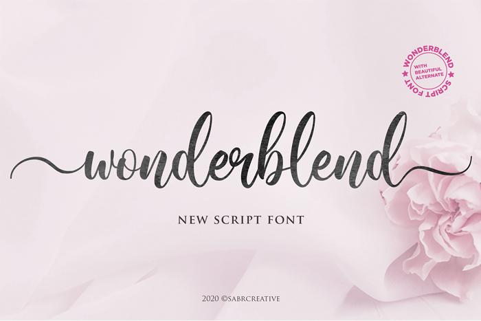 Wonderblend Font poster