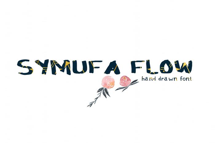 Symufa Flow Font poster