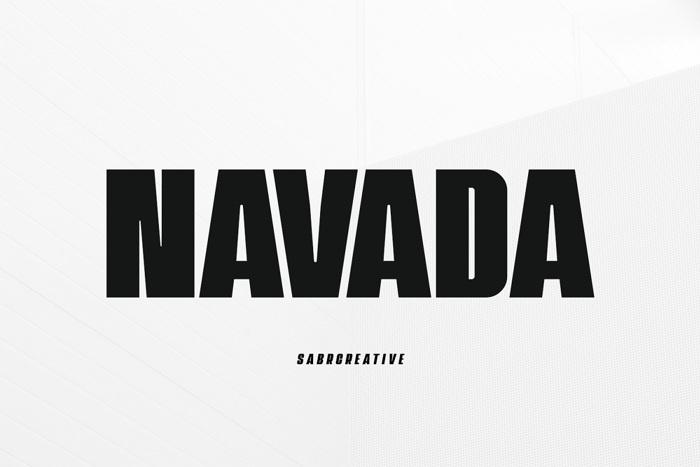 Navada Font poster