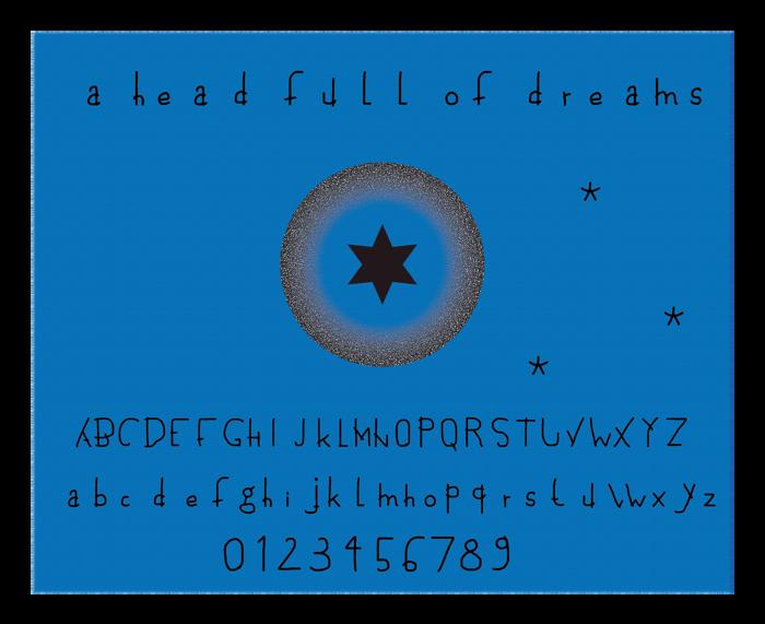 a head full of dreams Font poster