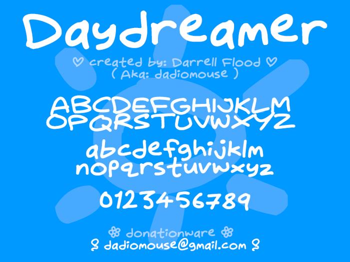 Daydreamer Font poster