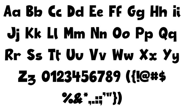 Retronome Font poster