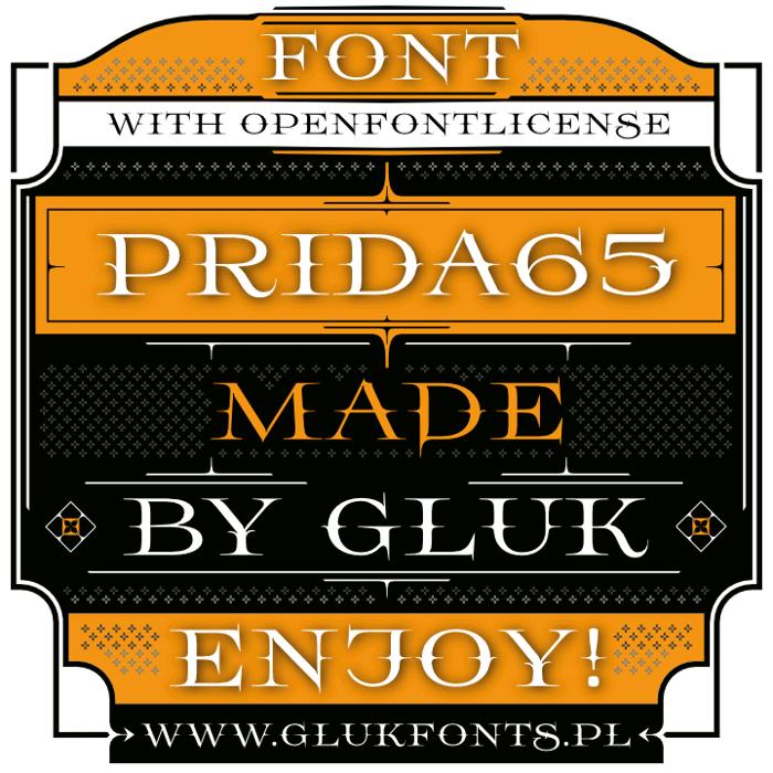 Prida65 Font poster