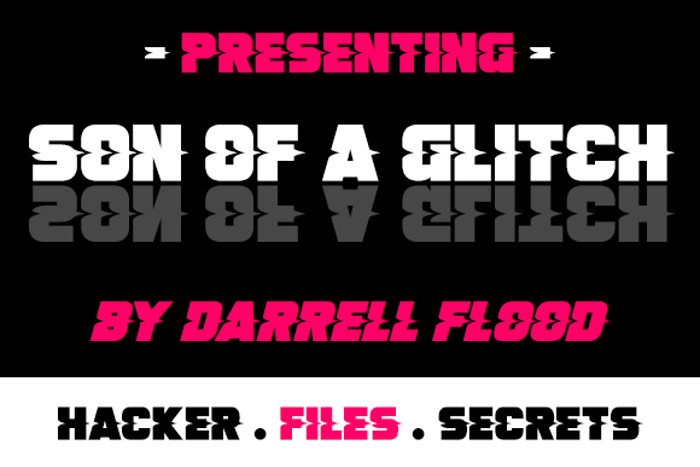 Son Of A Glitch Font poster
