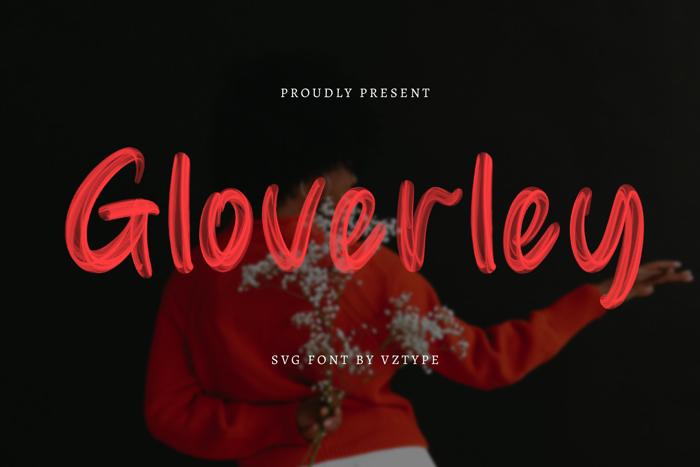 Gloverley Font poster