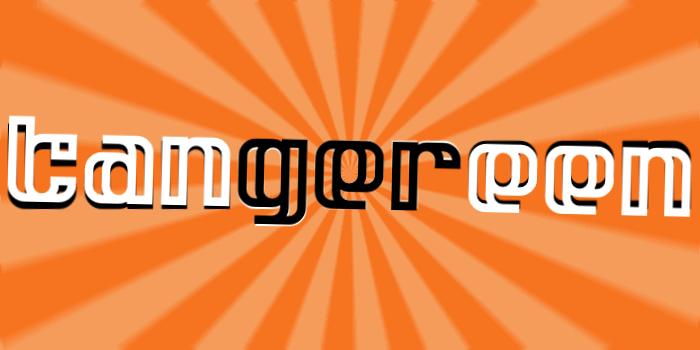 Tangereen 1 & 2 Font poster