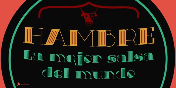 Txuleta Deco Font poster