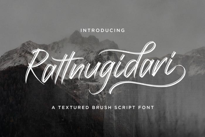 Rattnugidari Font poster