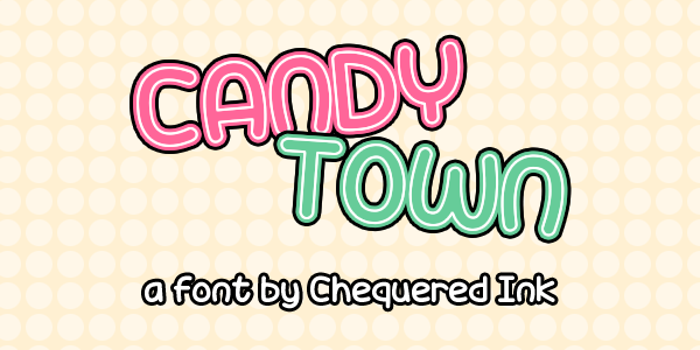 Candy Town Font poster
