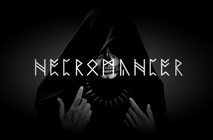 NECROMANCER Font poster