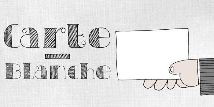 DK Carte Blanche Font poster